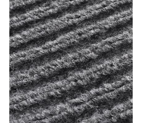 """Gray PVC Door Mat 3' 9"""" x 5' 9""""[6/6]"""