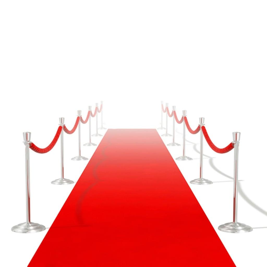 Červený koberec 1 x 5 m, extra těžký 400 g/m2