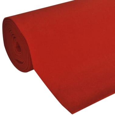 vidaXL Tapis rouge 1 x 10 m 400 g/m²[2/6]