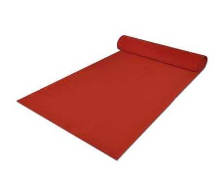 vidaXL Tapis rouge 1 x 10 m 400 g/m²[3/6]