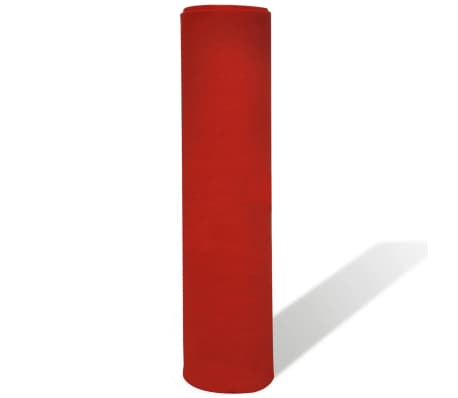 vidaXL Tapis rouge 1 x 10 m 400 g/m²[4/6]