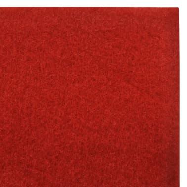 vidaXL Tapis rouge 1 x 10 m 400 g/m²[6/6]