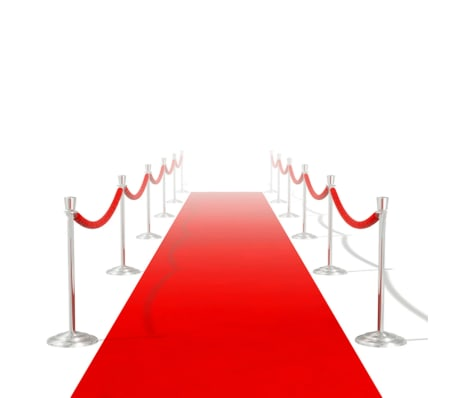 vidaXL Tapis rouge 1 x 10 m 400 g/m²[1/6]