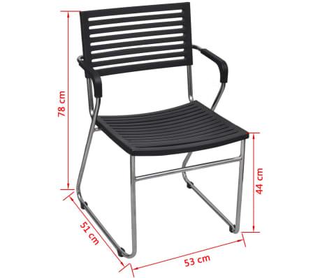 a84803ed2390 vidaXL Plastové stohovateľné stoličky so železným rámom