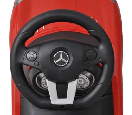 Mașină pentru copii fără pedale Mercedes Benz Roșu[6/8]