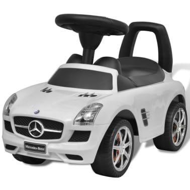 vidaXL Coche correpasillos para niños Mercedes Benz blanco[1/8]