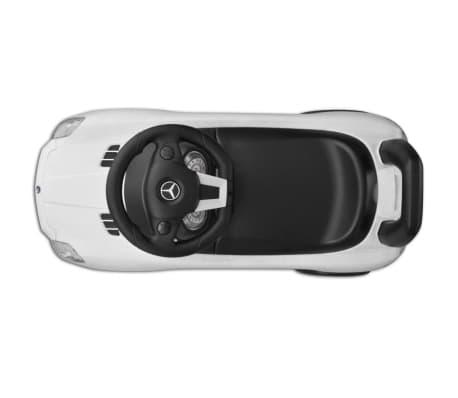 vidaXL Coche correpasillos para niños Mercedes Benz blanco[2/8]