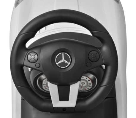 vidaXL Coche correpasillos para niños Mercedes Benz blanco[6/8]