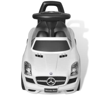 vidaXL Coche correpasillos para niños Mercedes Benz blanco[3/8]