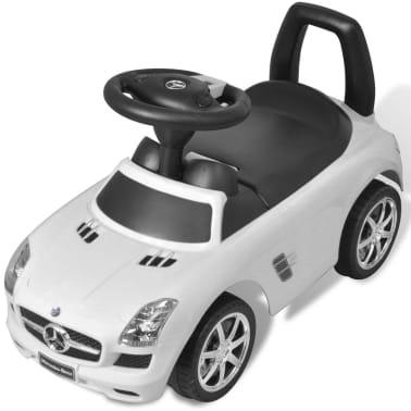 vidaXL Coche correpasillos para niños Mercedes Benz blanco[5/8]