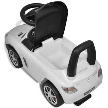 vidaXL Coche correpasillos para niños Mercedes Benz blanco[8/8]
