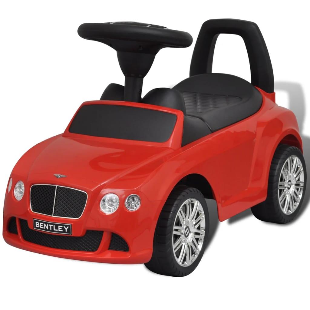 Mașină pentru copii fără pedale Bentley Roșu vidaxl.ro