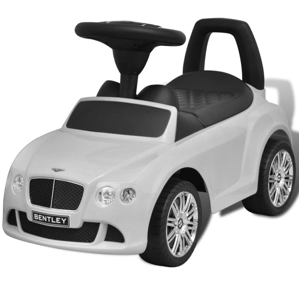 Mașină pentru copii fără pedale Bentley Alb poza 2021 vidaXL