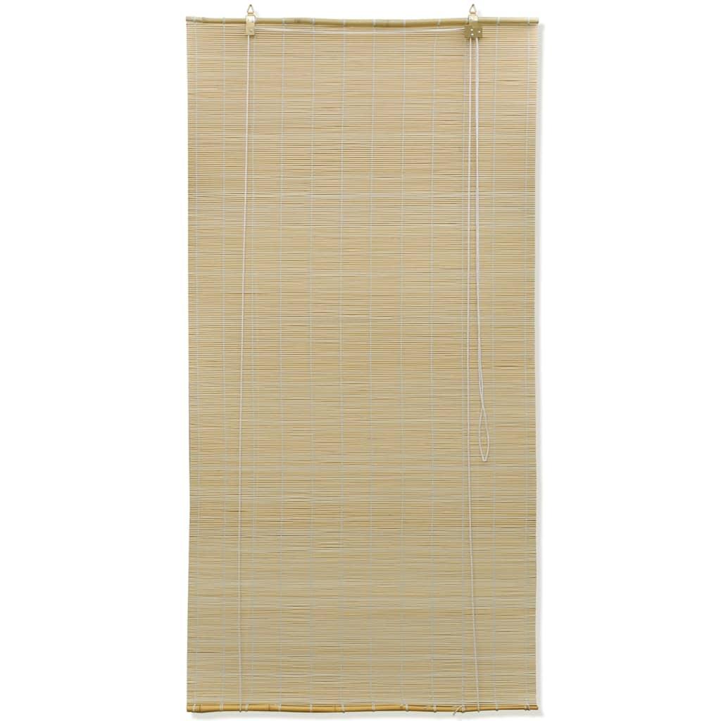 vidaXL Rolgordijn Bamboe 80 x 160 cm (Naturel)