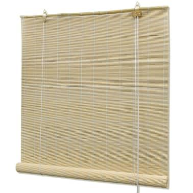 Rullegardin i bambus 100 x 160 cm naturfarvet[1/5]