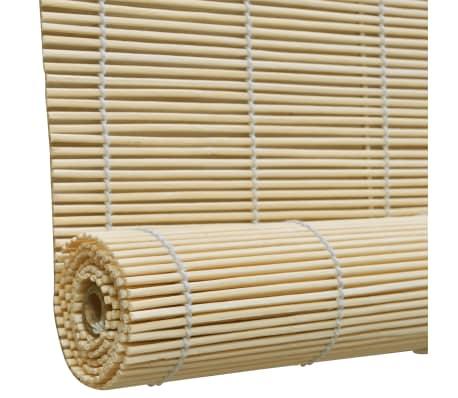 Rullegardin i bambus 100 x 160 cm naturfarvet[4/5]