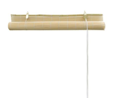 Rullegardin i bambus 100 x 160 cm naturfarvet[5/5]