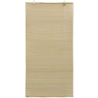 Rullegardin i bambus 100 x 160 cm naturfarvet[2/5]