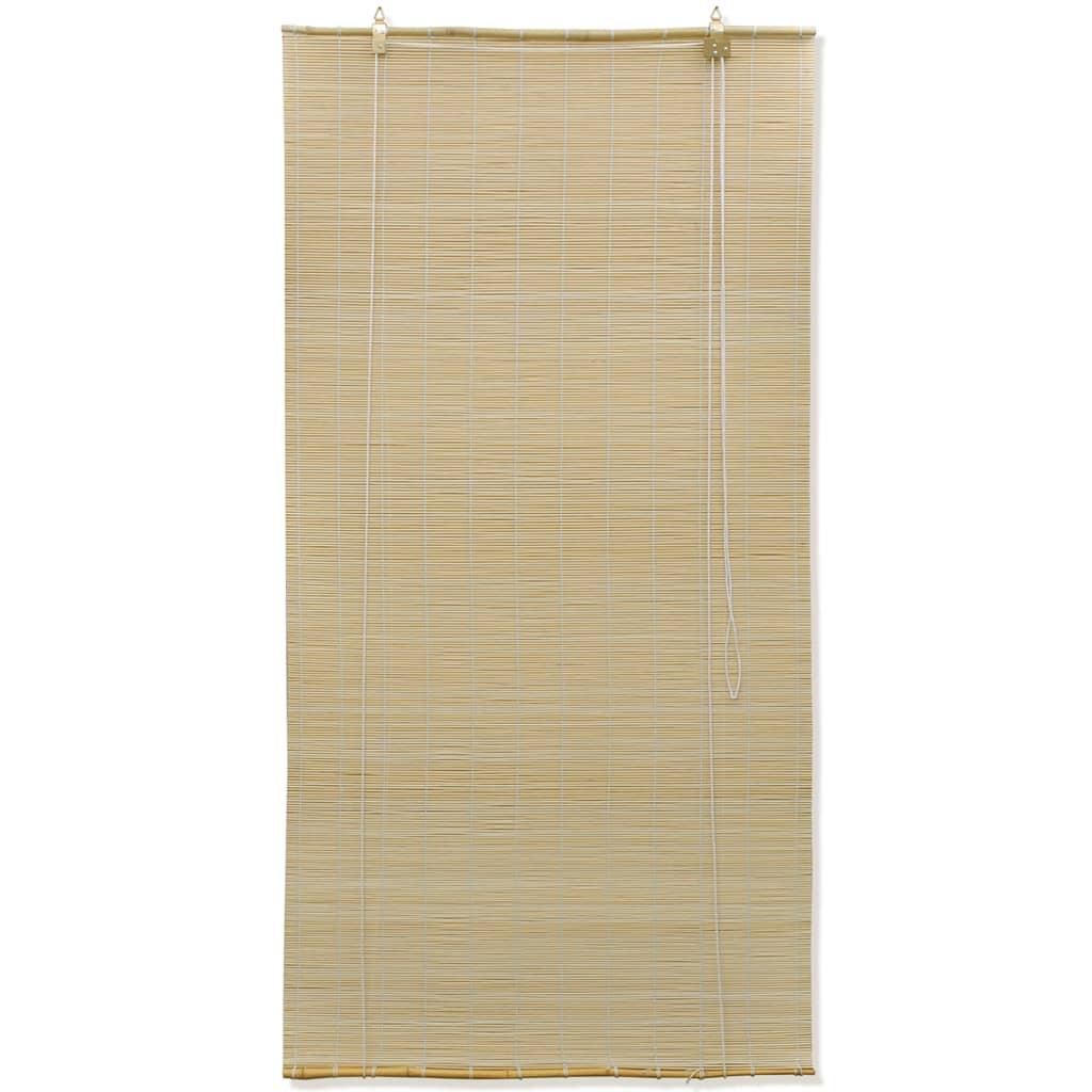 vidaXL Rolgordijn Bamboe 140 x 160 cm (Naturel)