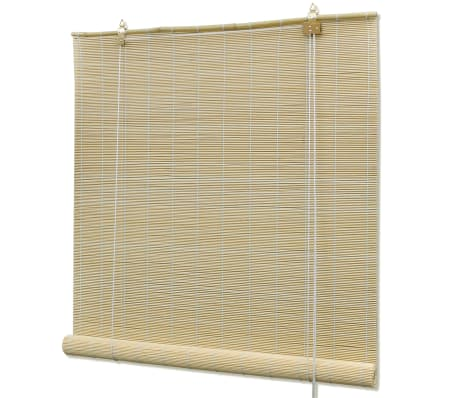 Natural Bamboo Roller Blinds 140 X 160 Cm Vidaxl Co Uk