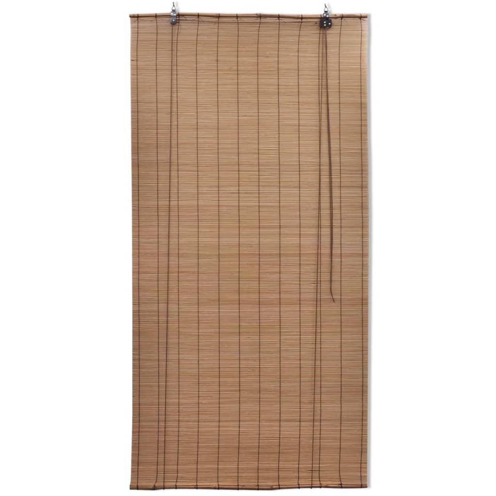 vidaXL Rolgordijn Bamboe 80 x 160 cm (Bruin)