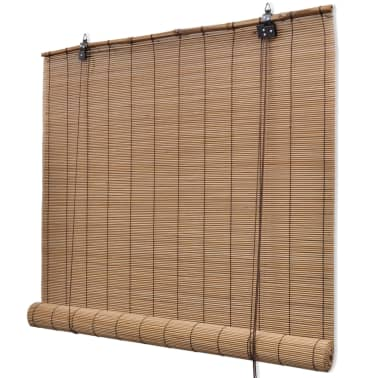 Brown Bamboo Roller Blinds 100 x 160 cm[1/5]