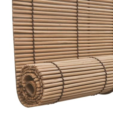 Brown Bamboo Roller Blinds 100 x 160 cm[4/5]