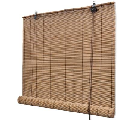 Rullegardin i bambus 120 x 160 cm brun[1/5]
