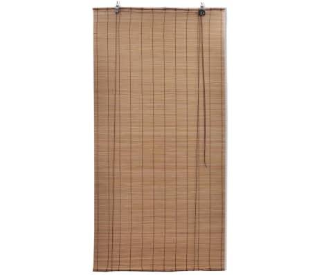 Rullegardin i bambus 120 x 160 cm brun[2/5]