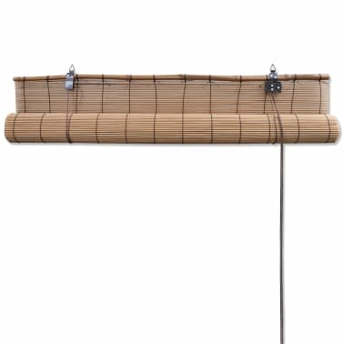 Rullegardin i bambus 120 x 160 cm brun[5/5]