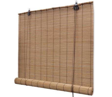 "Brown Bamboo Roller Blinds 47.2"" x 86.6"""