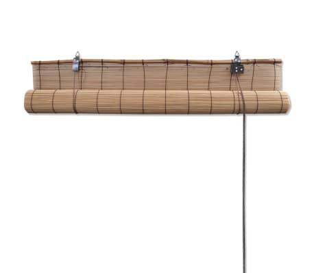 vidaXL Tapparella Avvolgibile in Bambù Marrone 120 x 220 cm[5/5]