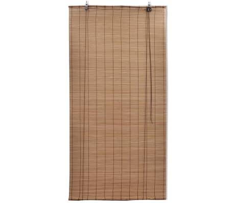 Brun bambus rullegardin 140 x 160 cm[2/5]