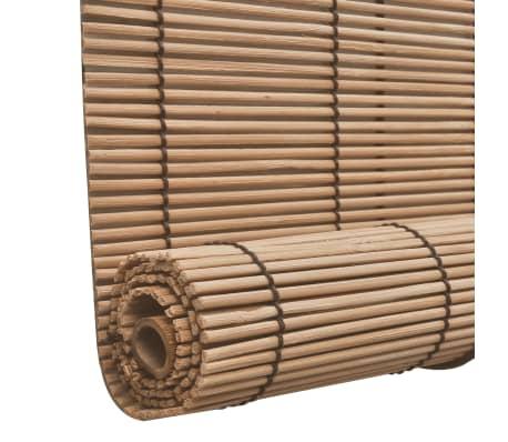 Brun bambus rullegardin 140 x 160 cm[4/5]