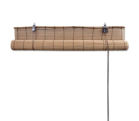 Brun bambus rullegardin 140 x 160 cm[5/5]