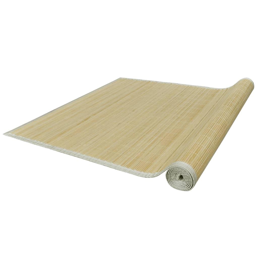 VidaXL - vidaXL Rechthoekige bamboe mat 80 x 200 cm (Neutraal)