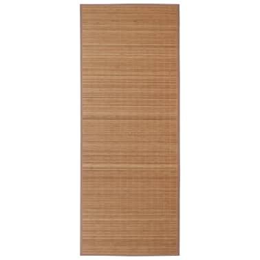 Tapis en bambou brun à latte Rectangulaire 80 x 300 cm[2/6]