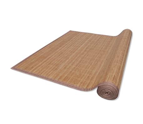 Tapis en bambou brun à latte Rectangulaire 80 x 300 cm[3/6]