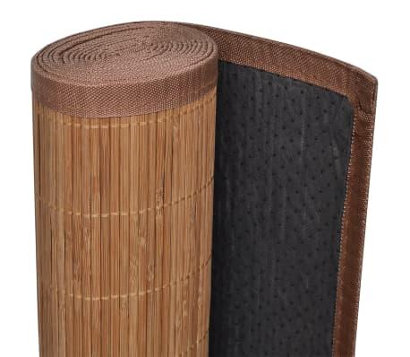 Tapis en bambou brun à latte Rectangulaire 80 x 300 cm[4/6]
