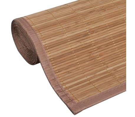 Tapis en bambou brun à latte Rectangulaire 80 x 300 cm[5/6]