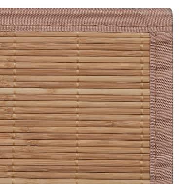 Tapis en bambou brun à latte Rectangulaire 80 x 300 cm[6/6]
