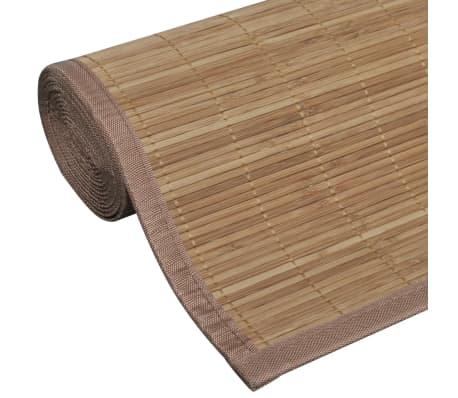 Alfombra de bamb natural rectangular color marr n 120 x 180 cm - Alfombras bambu colores ...