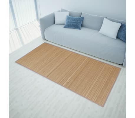 Alfombra de bamb natural rectangular color marr n 120 x - Alfombras bambu colores ...