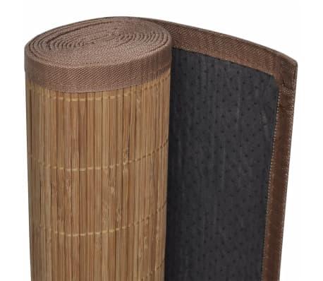 Rechteckig Brauner Bambusteppich 150 x 200 cm[4/6]