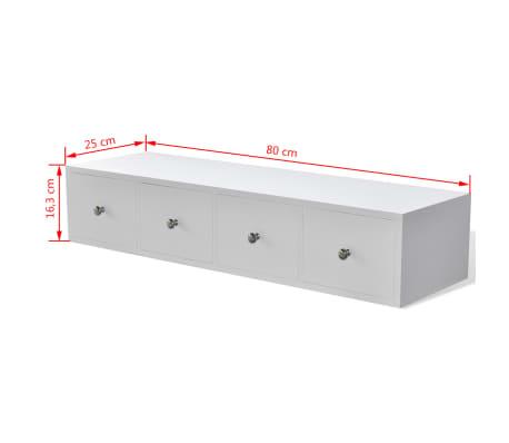 vidaXL Dulap cu 4 sertare din lemn, alb[6/6]