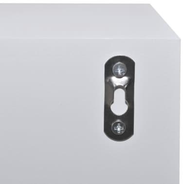 vidaXL Dulap cu 4 sertare din lemn, alb[5/6]