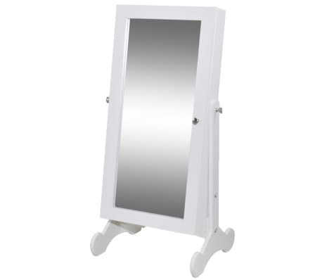 Biała toaletka na biżuterię z oświetleniem LED i lustrem[2/10]