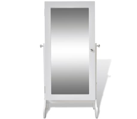 Biała toaletka na biżuterię z oświetleniem LED i lustrem[3/10]