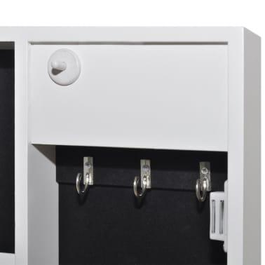 Biała toaletka na biżuterię z oświetleniem LED i lustrem[7/10]