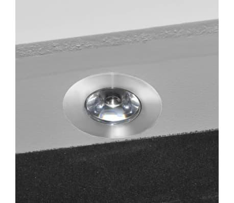 Cabinet alb pentru bijuterii cu suport, oglindă și lampă LED[6/7]